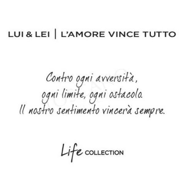Bracciale Donna doppio Kidult in Acciaio Lui & Lei  L'amore vince tutto – Love – 731053
