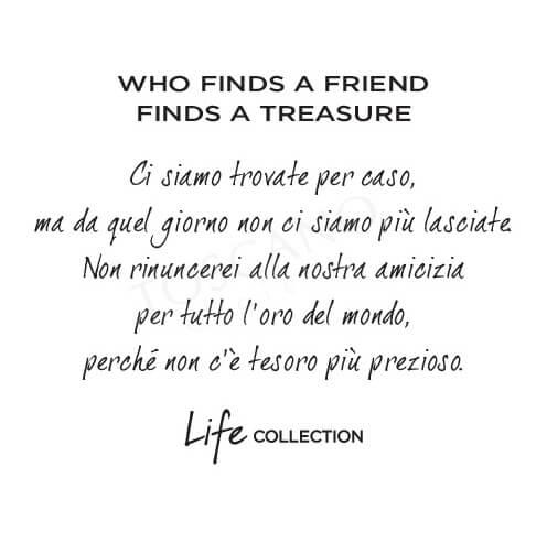 Collana Kidult in Acciaio e Smalti  Who Finds A Friends... – Love – 751129