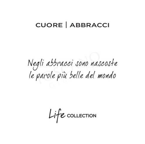 Collana Kidult in Acciaio e Smalti Cuore  Abbracci – Love – 751014