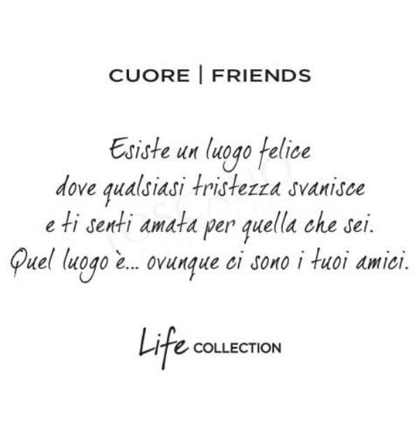 Collana Kidult in Acciaio e Smalti Cuore  Friends – Love – 751077