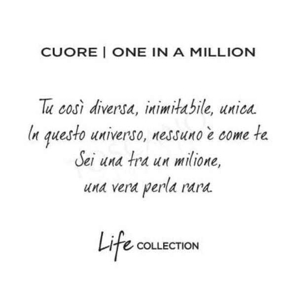Collana Kidult in Acciaio e Smalti Cuore  One In A Million – Love – 751122