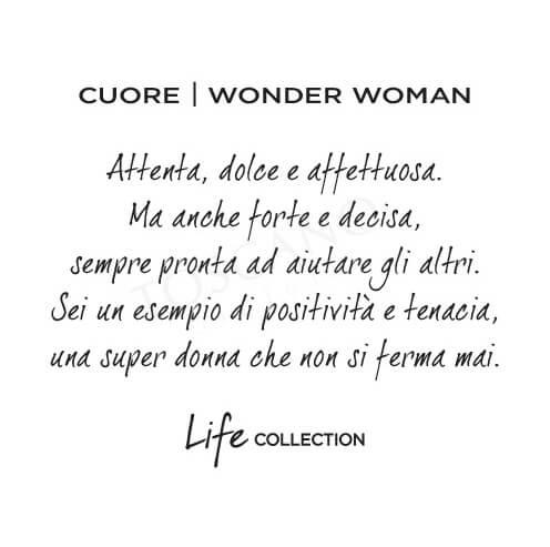 Collana Kidult in Acciaio e Smalti Cuore  Wonder Woman – Love – 751044