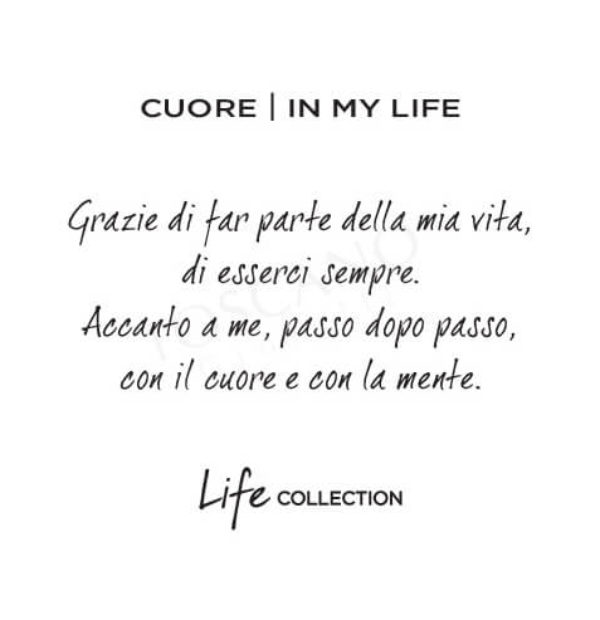 Collana Kidult in Acciaio e Smalti Cuore  In My Life – Love – 751104