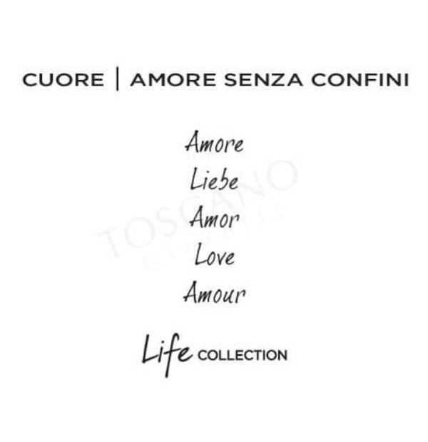 Bracciale Donna Kidult in Acciaio e Pelle Cuore  Amore – Philosophy – 731460