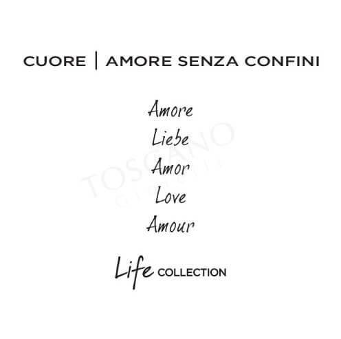 Bracciale Donna Kidult in Acciaio e Pelle Cuore  Amore - Philosophy - 731460