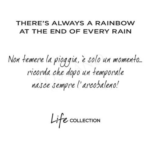 Collana Kidult in Acciaio e Smalti  There's Always a Rainbow... – Philosophy – 751128