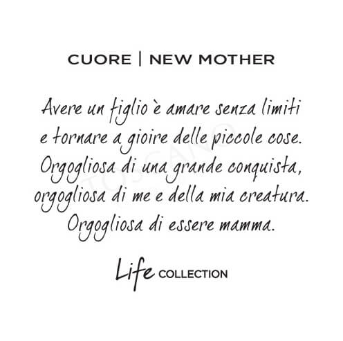 Collana Kidult in Acciaio e Smalti Cuore  New Mother – Family – 751108