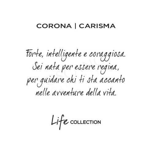 Collana Kidult in Acciaio e Smalti Corona  Carisma – Symbols – 751095