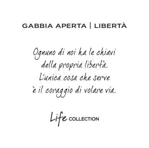 Bracciale Donna Kidult in Acciaio Gabbia ApertaLibertà - Symbols - 731290