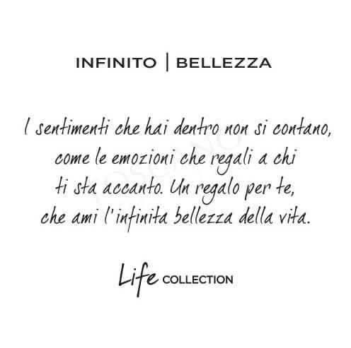 Collana Kidult in Acciaio e Smalti Infinito  Bellezza – Symbols – 751057