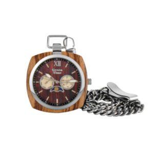 Orologio da Tasca Green Time Cronografo Legno Zebrano - ZW049E