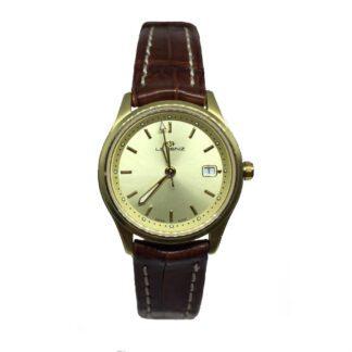 Orologio Lorenz Solo Tempo Acciaio Dorato Pelle Marrone - 22896CL