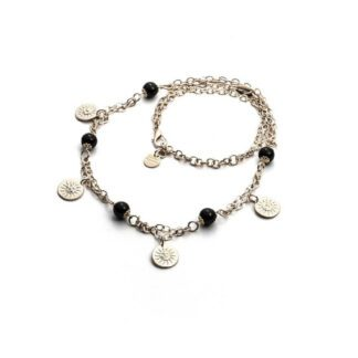 Collana Donna 4US Ottone Cristalli Neri - Black Pearls - 4UCL1811W