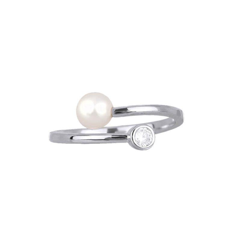 Anello Mabina Argento Zircone Perla - 523127