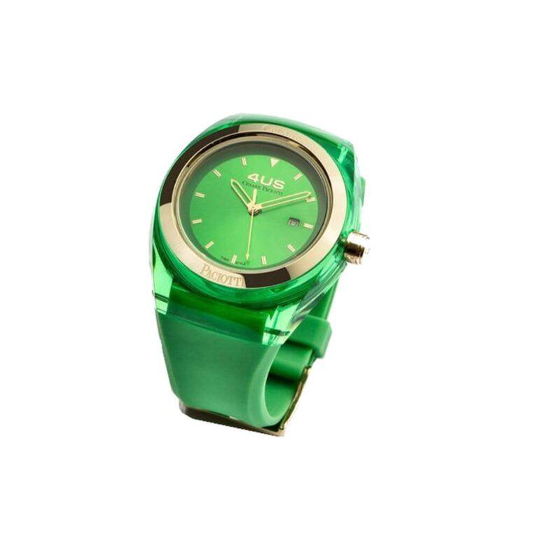 Orologio 4US Solo Tempo Acciaio Resina Silicone Crystal Mint - T4CY126
