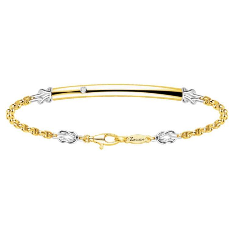 Bracciale Zancan Oro Giallo Oro Bianco 18kt Maglia Marina - EB689GB
