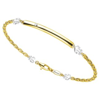 Bracciale Zancan Oro Giallo Oro Bianco 18kt Maglia Marina - EB691BG