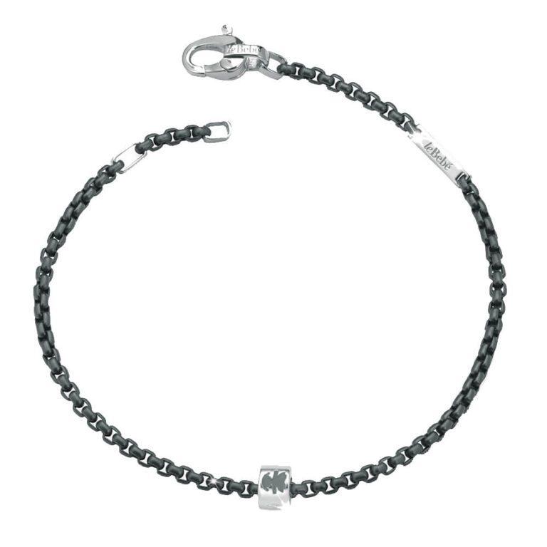 Bracciale Le Bebè Titanio Elementi Argento Personalizzabile - Add - LBU004A