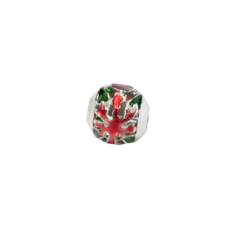 Beads Isola Bella Argento Smalto Conchiglia Corallo - 20000863