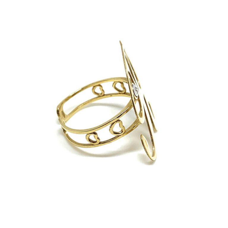 Anello Artlinea Oro Giallo Diamanti Lettera R - ADA001N/IN-LN