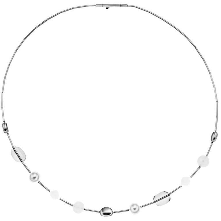 Collana Skagen Acciaio Vetro Perle - Sea Glass - SKJ0332040
