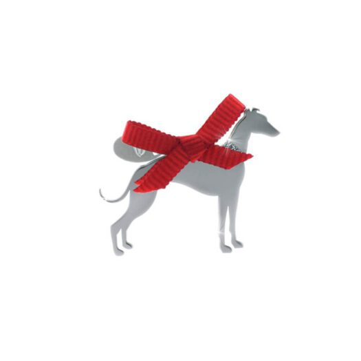 Ciondolo Unoaerre Argento Smalto Cane Levriero - Happy Pets - AG1005