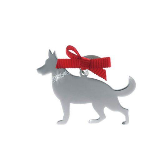 Ciondolo Unoaerre Argento Smalto Cane Pastore Tedesco - Happy Pets - AG837