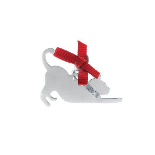 Ciondolo Unoaerre Argento Smalto Gatto - Happy Pets - AG859