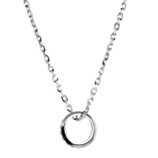 Collana Unoaerre Oro Bianco Diamanti Anello - 048KFD0854071