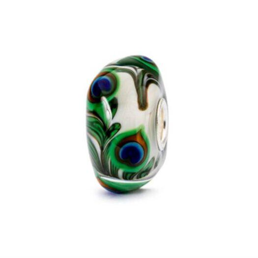 Bead Trollbeads in Vetro Occhio di Pavone - TGLBE-10420