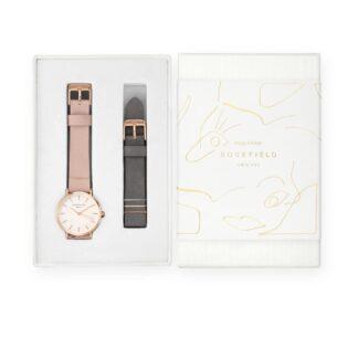Orologio Donna Rosefield Acciaio Pelle + Cinturino Pelle - The West Village - WSPEG-X186