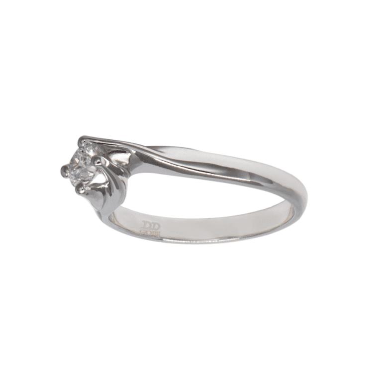 Anello Davite & Delucchi Oro Bianco Diamanti - AA 002547 30DSK