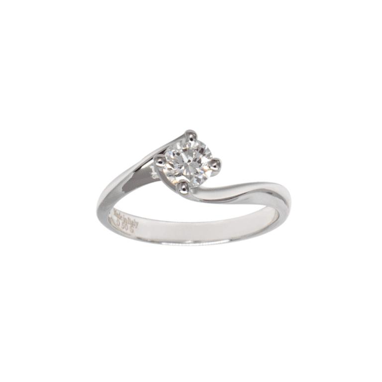 Anello Davite & Delucchi Oro Bianco Diamanti - AA 002547 50DSK