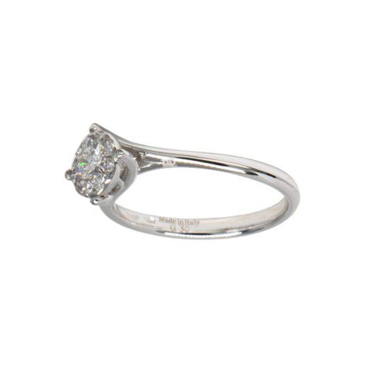 Anello Davite & Delucchi Oro Bianco Diamante - AA 031369 0S