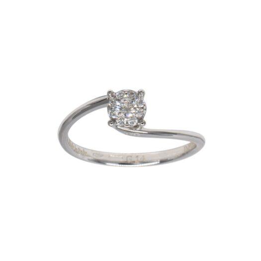 Anello Davite & Delucchi Oro Bianco Diamante - AA 031372 0S