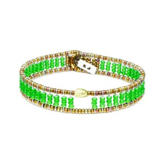Bracciale Ziio Peridoto Perle - BR SIL FENICE GREEN