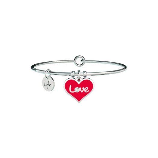 Bracciale Donna Kidult in Acciaio con Cuore Rosso  Love - Love - 731608