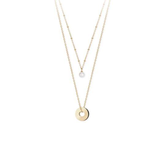 Collana 2Jewels in Acciaio con Shell Pearl - Minimal Chic - 251689