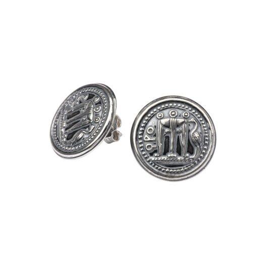 Orecchini Gerardo Sacco in Argento con Monete - Maschere e Monete - 39081