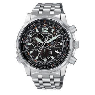 Orologio Citizen Eco Drive Acciaio Crono Pilot Acciaio | Radiocontrollato - CB5860-86E