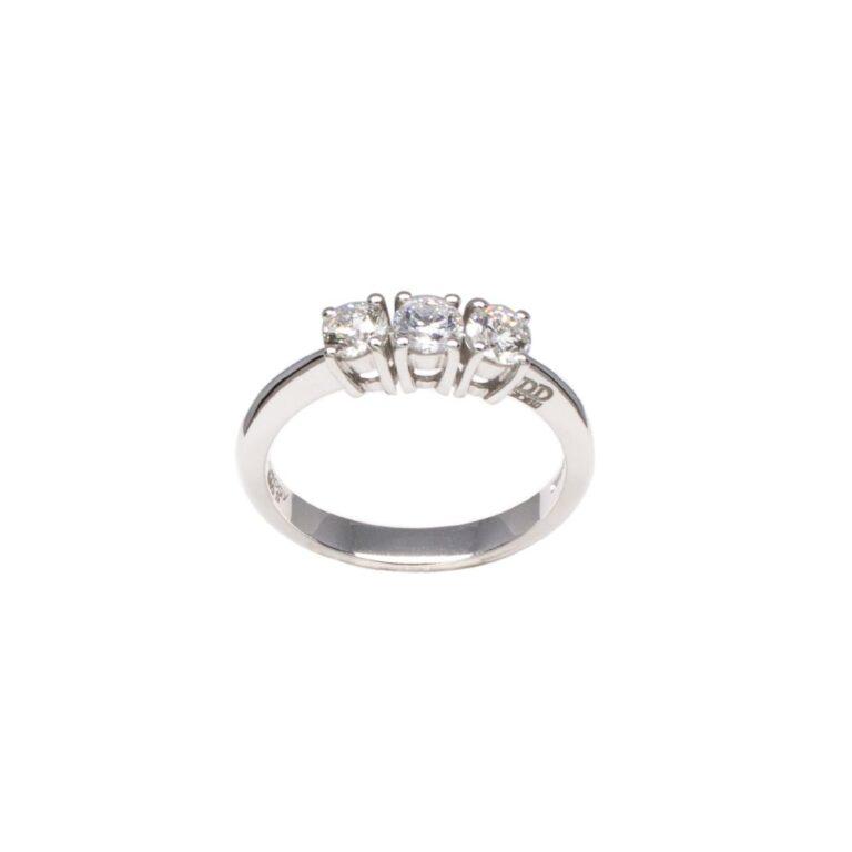 Anello Trilogy Davite & Delucchi Oro Bianco Diamanti - AA028989 65S
