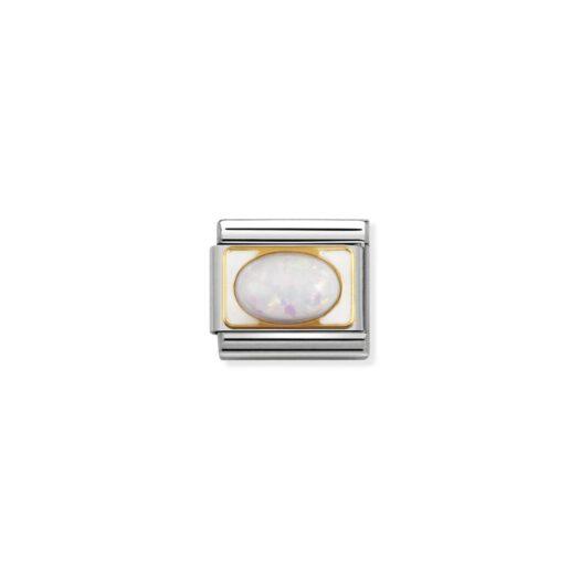 Charm Nomination in Acciaio e Oro - Composable - 030511/07