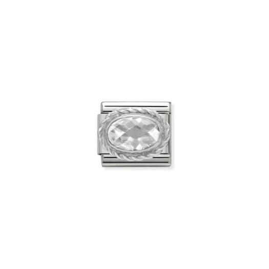 Charm Nomination in Acciaio e Argento - Composable - 030606/010