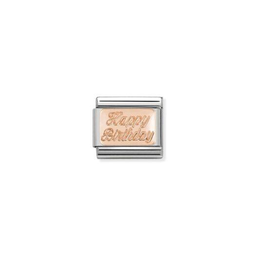 Charm Nomination in Acciaio e Oro Rosa - Composable - 430101/29