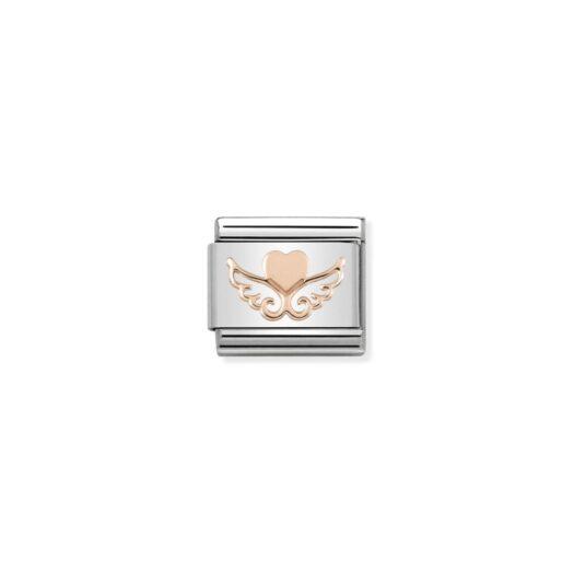 Charm Nomination in Acciaio e Oro Rosa - Composable - 430104/01
