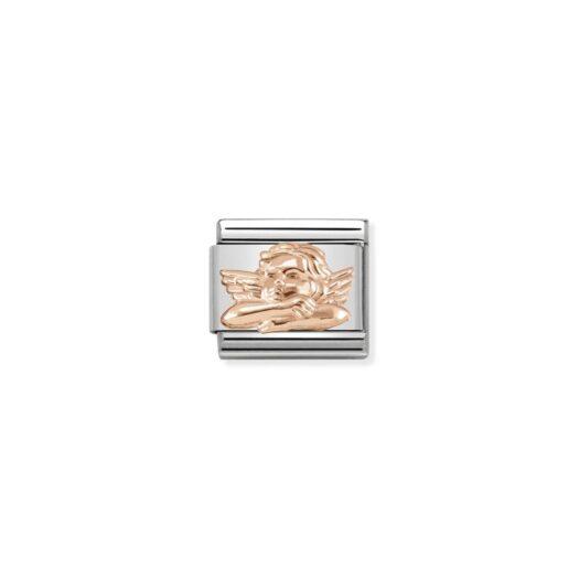 Charm Nomination in Acciaio e Oro Rosa - Composable - 430106/05