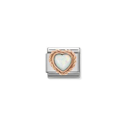 Charm Nomination in Acciaio e Oro Rosa - Composable - 430509/22