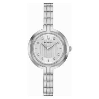 Orologio Solo Tempo Bulova in Acciaio con Diamanti - Rhapsody - 96P214
