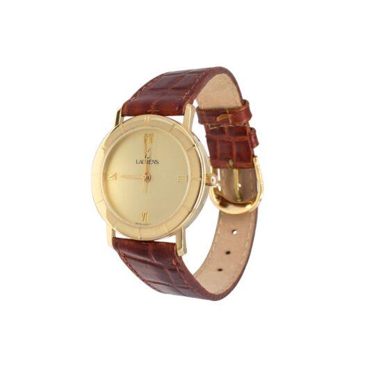 Orologio Solo Tempo Laurens Oro Giallo e Pelle – 018119BS