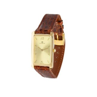 Orologio Solo Tempo Lorenz in Oro Giallo e Pelle - 021375BH